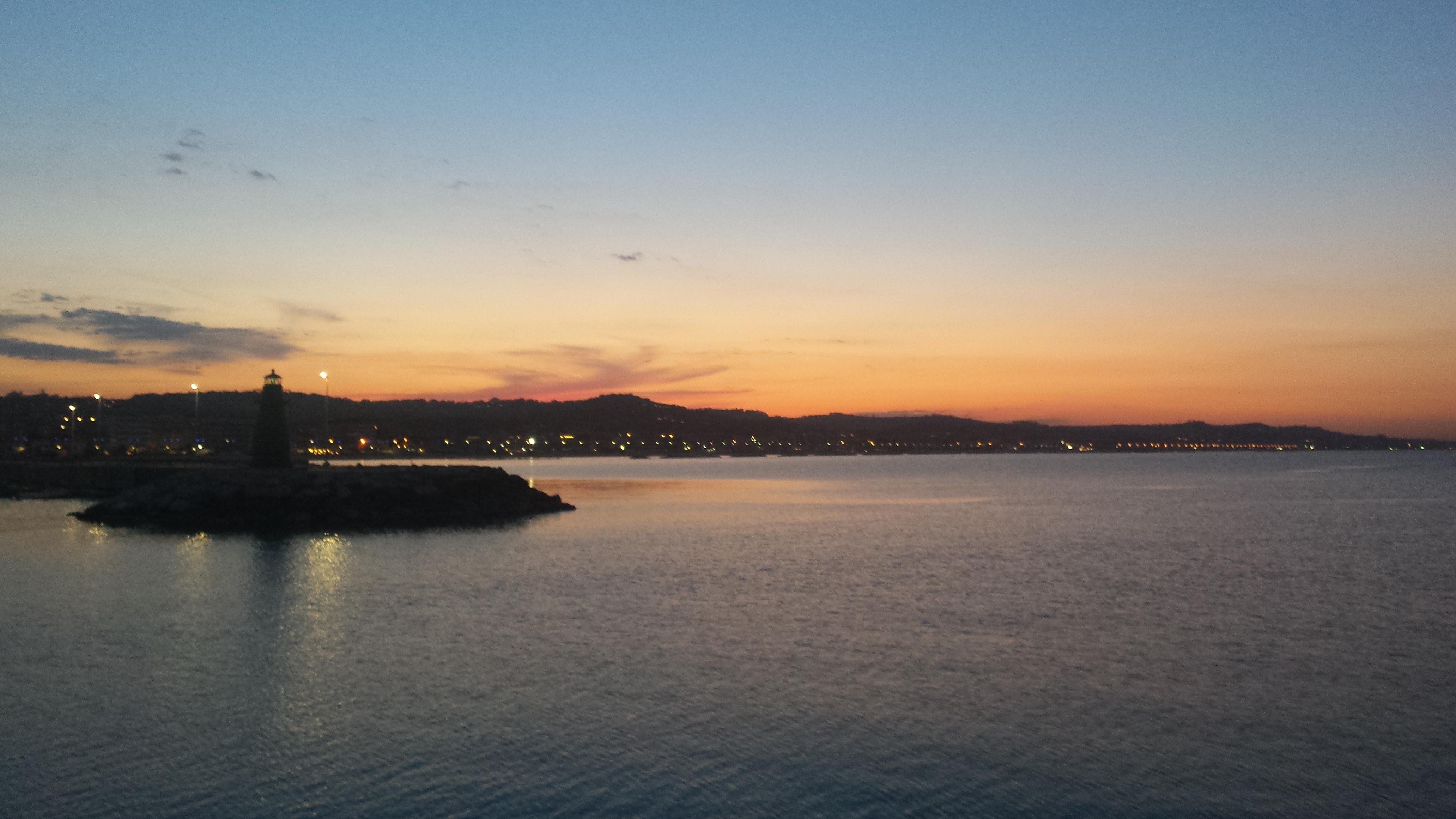 tramonto al modo